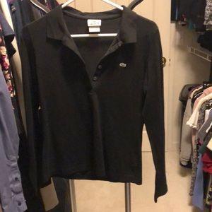 Lacoste black polo size 42